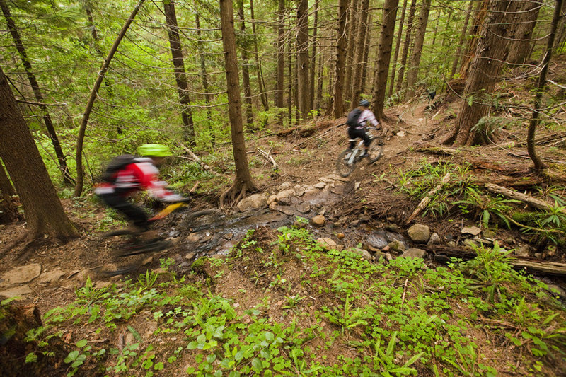 Three Thirty Eight offers a little more pedaling than other trails at Sandy Ridge