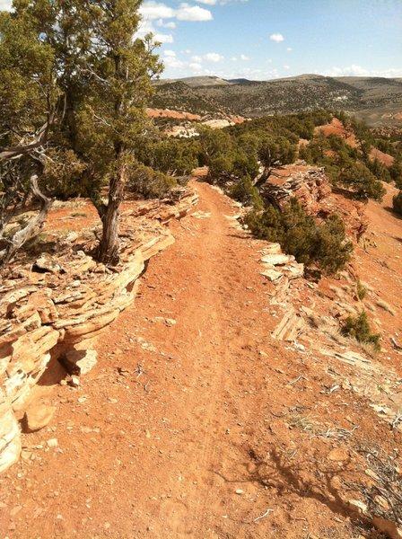 Descending Red Ridge toward parking lot. Fast and beautiful.