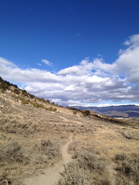 Start of the Bailey Trail from Second Gulch.  Looking north towards Eagle.