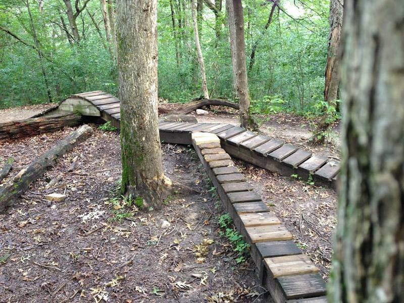 Camelback Obstacle.  One of many wood features at Lebanon Hills.
