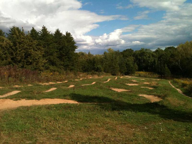 The three line (rollers, jumps, berms) area at Lebanon Hills.