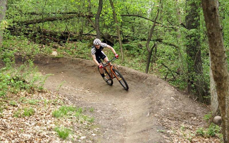 One of the berms in the Lake Loop at Lebanon Hills.