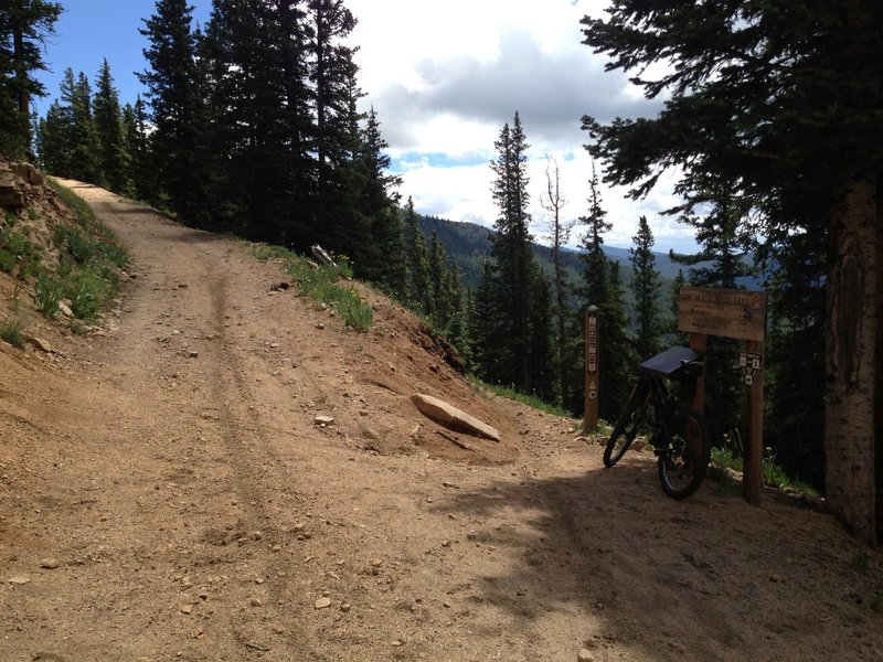 Take this singletrack trail off to the right