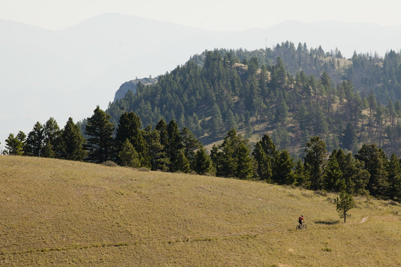 The Mt Helena Ridge has many high meadow sections with amazing views