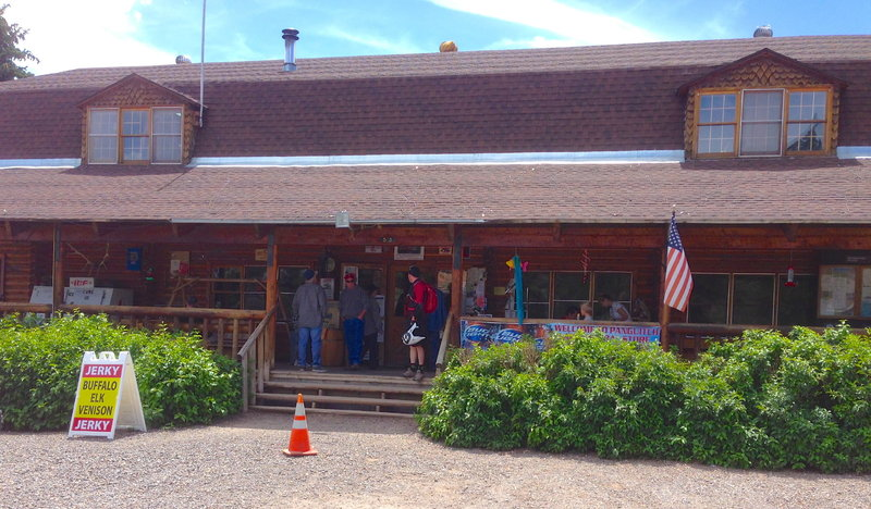 The little country store where the shuttle picks you up.  You can get a beverage or snack while you wait for your ride.