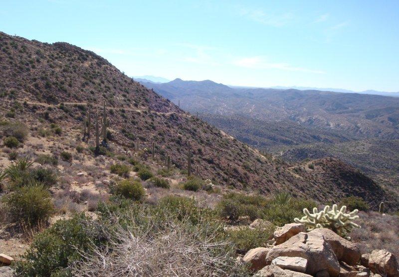 2000 ft ridgetop super-moto descent to Kelvin