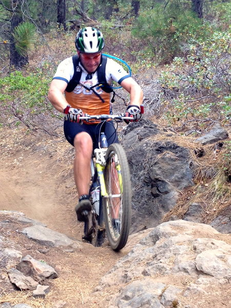 Working it' on the uphill technical