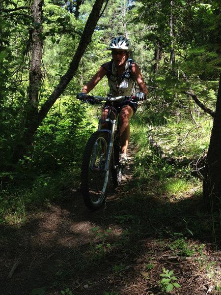 Alisa Bondurant on Sinker Creek/Eastside Jct