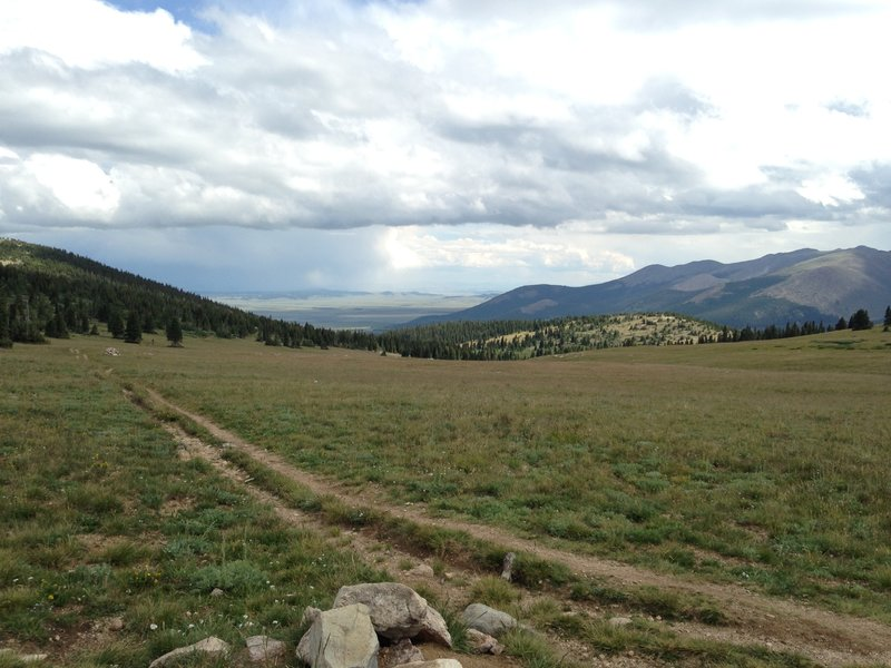 Looking down into the valley from the jefferson cutoff