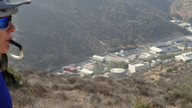 Start of the downhill towards the WWTP
