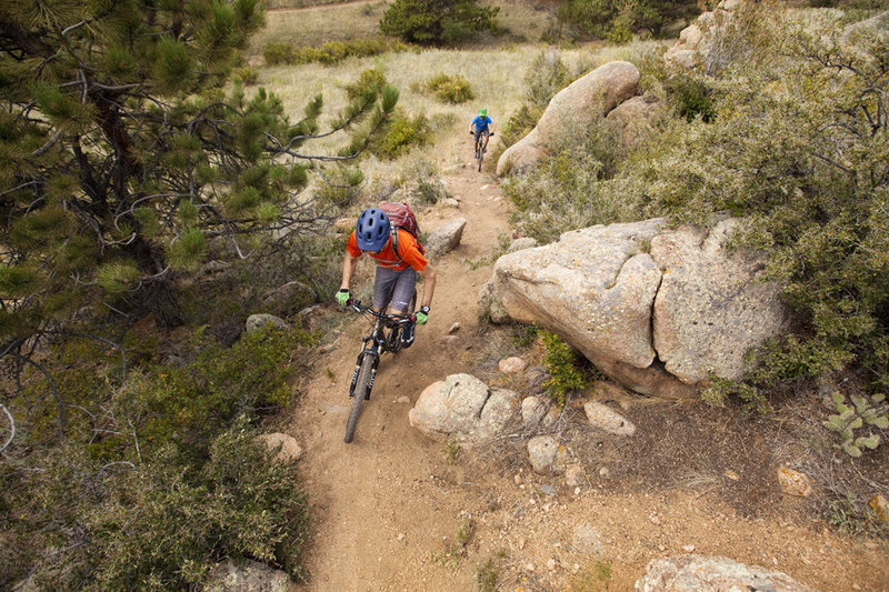 Winding through boulders on Igneoramous