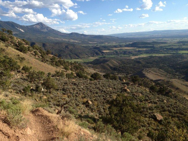 Overlooking the valley below