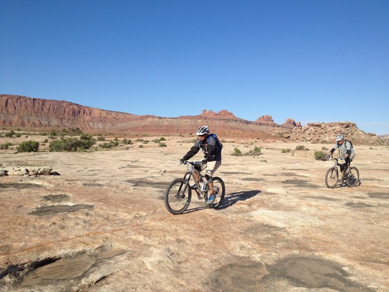 Riding the slickrock