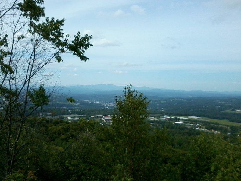 A view from the top of Millstone Hill. There is a trail stub that leads up here.