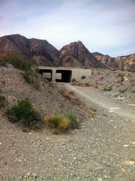 Entry to upper tunnel. Stay right after tunnel and stay on singletrack back to parking.