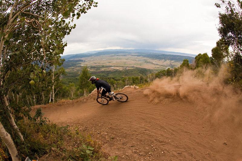 It gets rowdy right away on Rustlers Ridge