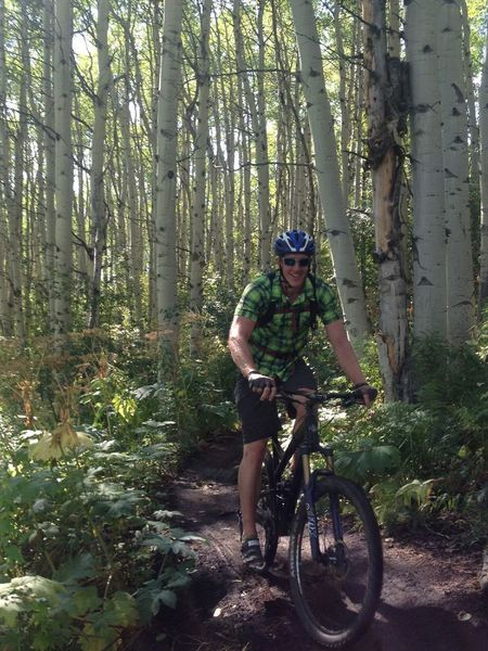 Sections of dense aspen and singletrack make you smile!