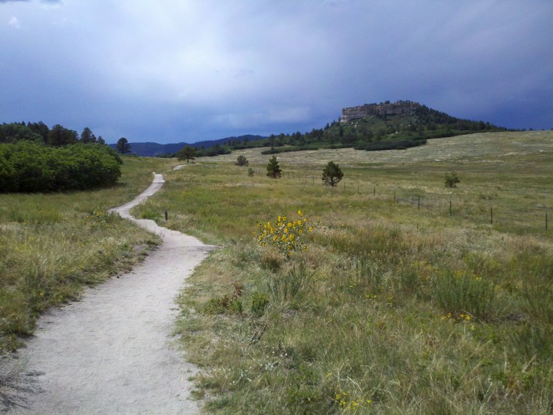 Looking west towards Eagle Pass with Eagle Mountain to the right