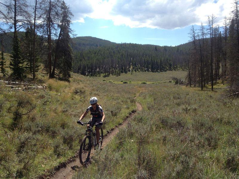 Heading up Soda Creek Trail