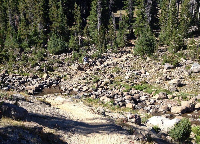 Rocky, stream crossing