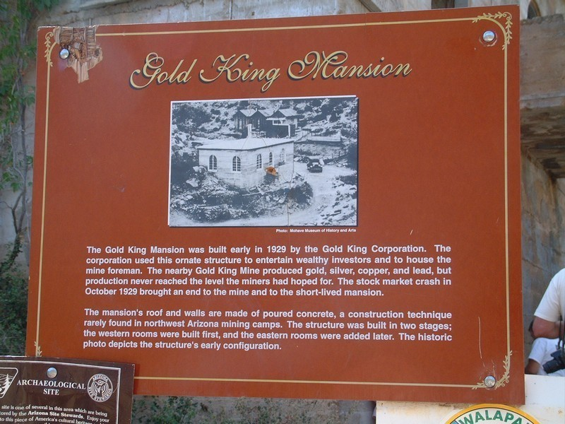 This is the sign at the Gold King Mansion describing the history.