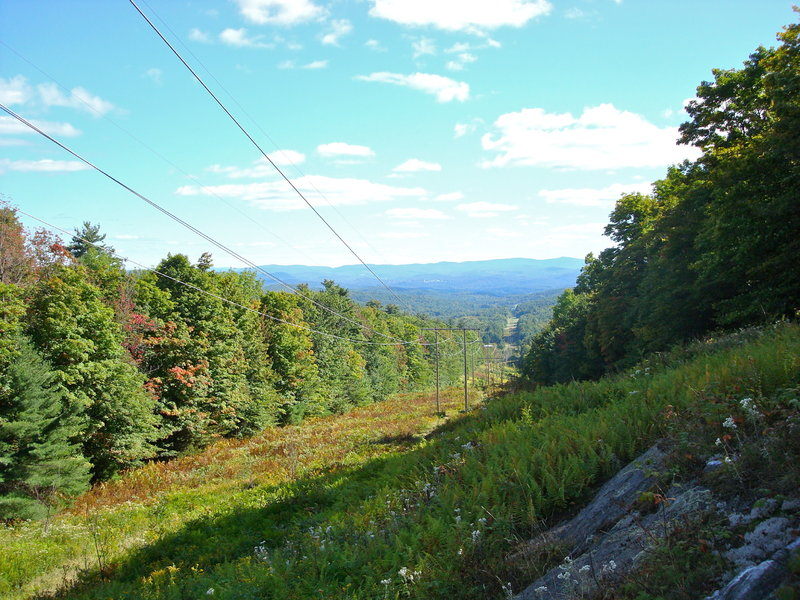 Looking down the powerlines into town before hitting the singletrack