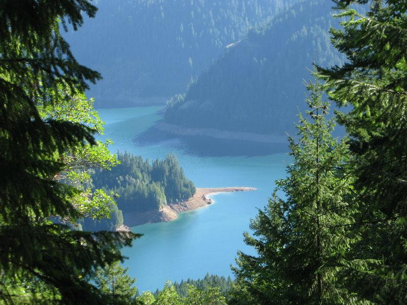 Looking down on Cougar Reservoir