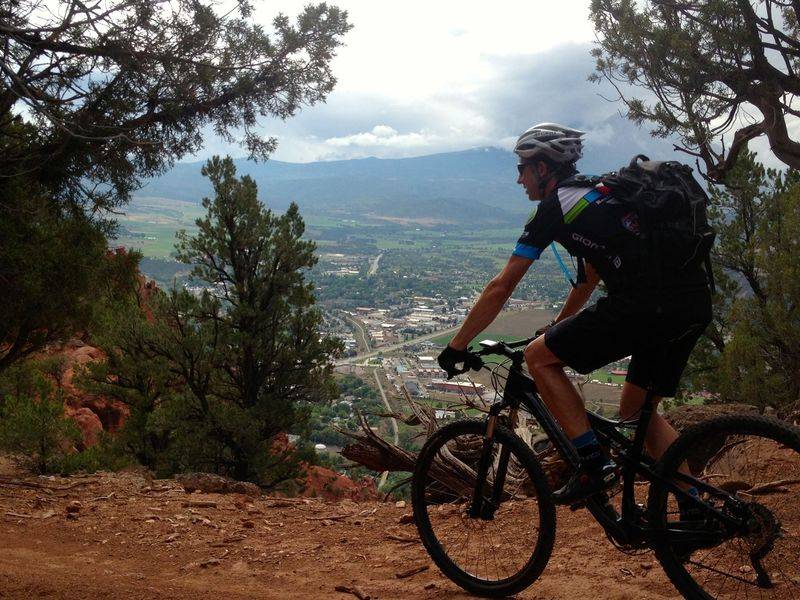 High above Carbondale on Skeeter's Ridge Trail