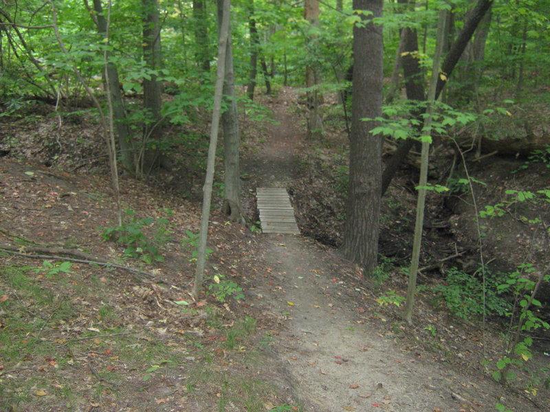 Short bridge over a small ravine.