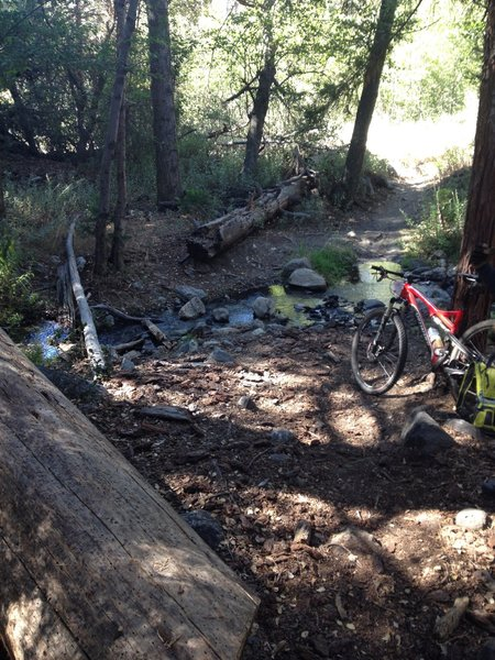 First Creek. Easy ride across. Nice spot to stop for a break.