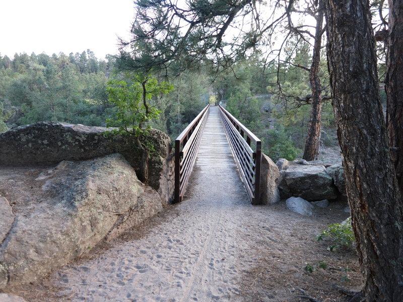 The bridge on bridges trail.