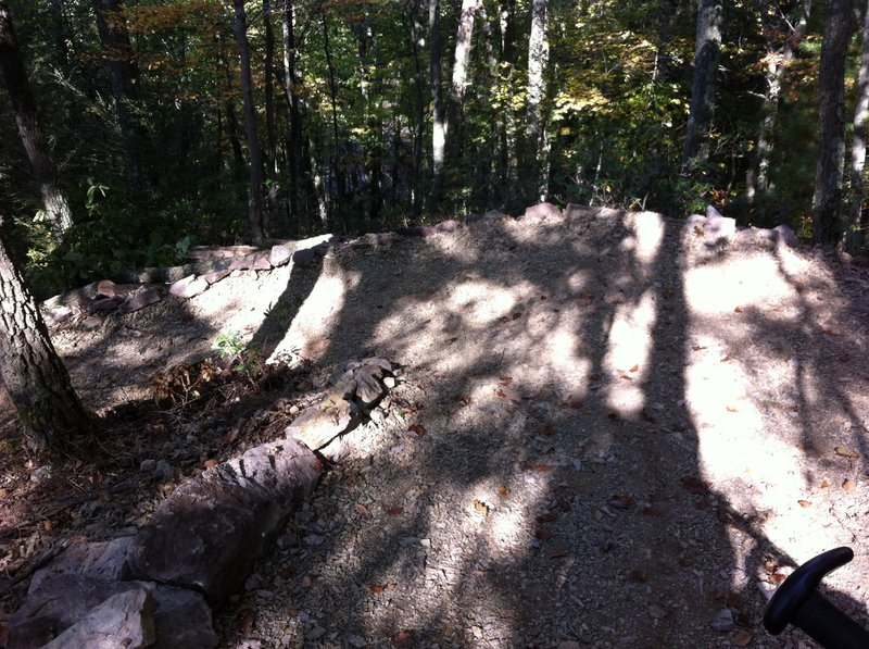 New rock walled switchbacks are a bit tight, but enjoyable.