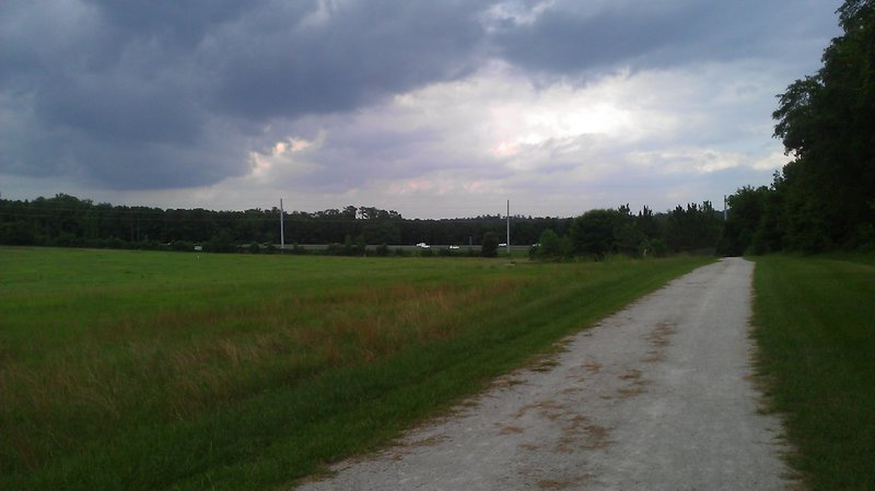 Looking towards the interstate.