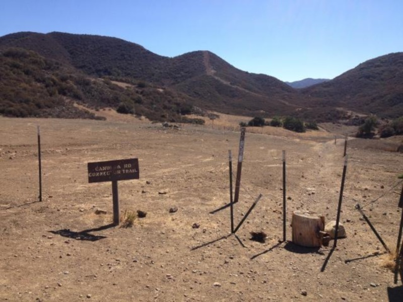 This is the start of the Camuesa Connector Trail, it will be on your right.  19 Oaks is another 0.5 mile on the left.