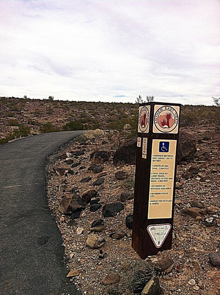 Start of The Anthem East Trail from main parking