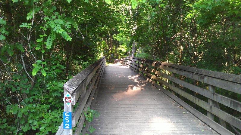 Trailhead bridge