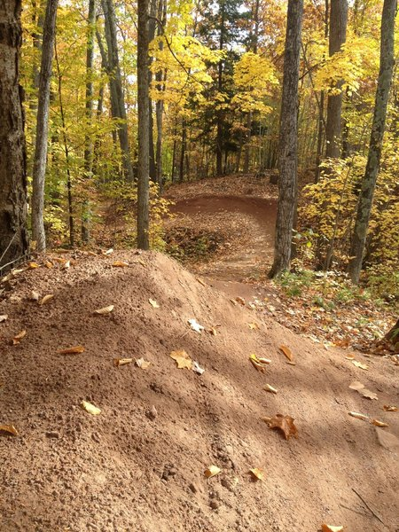 Banked gap and massive berm on Sure Would.