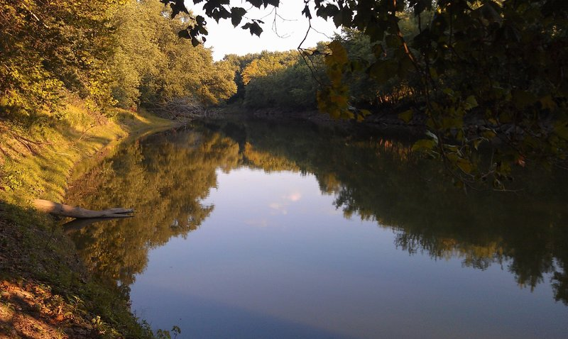 View of Sangamon River from railroad bridge Viewpoint