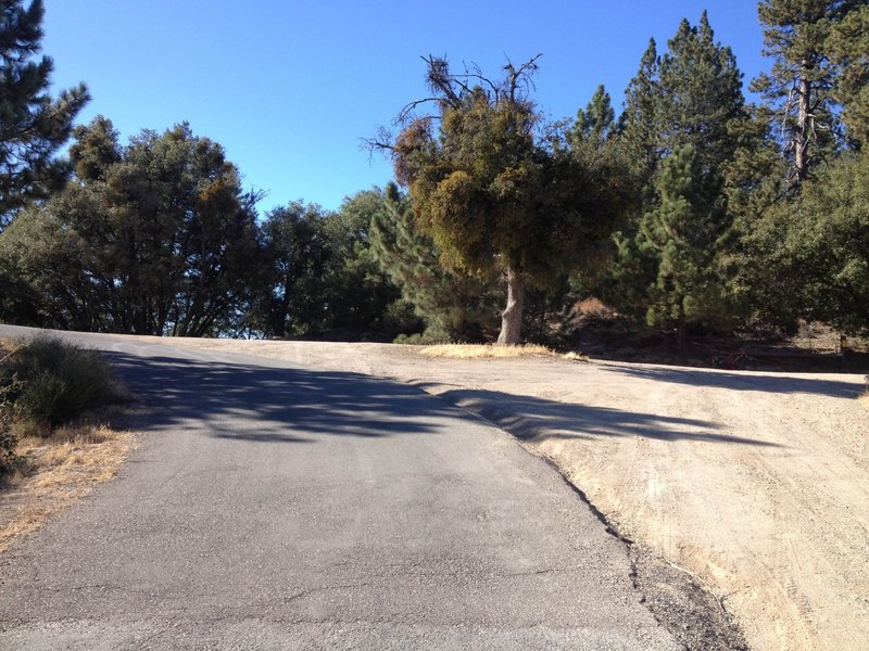 This is the top of the climb on Figueroa Mtn Road.  The East Pinery Road heads off to the right here.