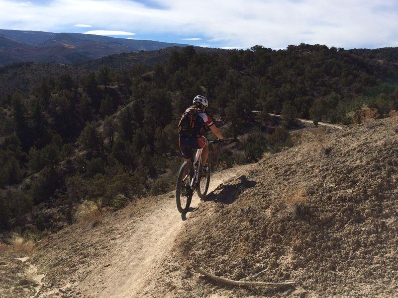 grinding away up Abrams Ridge