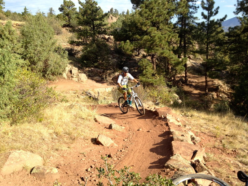 Smooth, masterfully-built trail.  Lots of work went into this one!