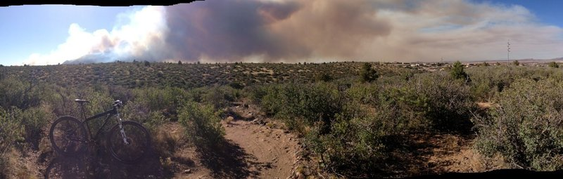 The view from Legacy Trail of the Doce Fire (June 2013)