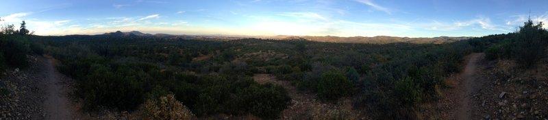 Pano of Prescott in the distance