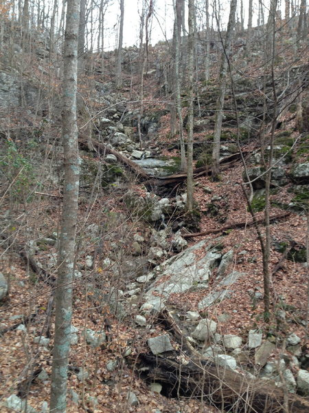Nice waterfall between the Annandale Trail and the Bluff Line Trail.