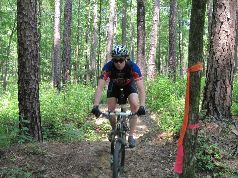 """Aaron Forsyth hitting the """"rollers"""" on the CW Trail"""
