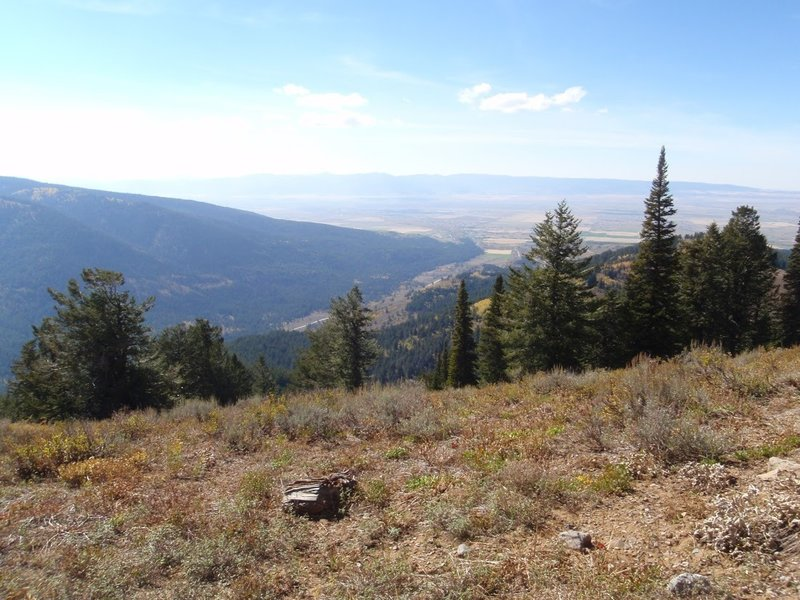 View of the Teton Valley from Peaked trail, photo by Dana Ramos