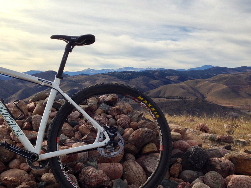 Nice views from the top out over the foothills to the bigger mountains.