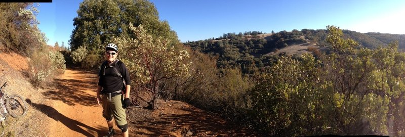 Panoramic view along the American River Trail
