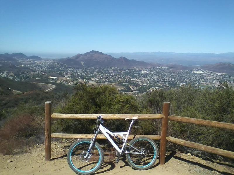Bench Overlook at the top of Robles.