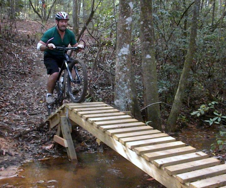 One of the bridges on Rucker's Revenge
